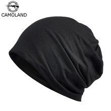 17ba163fb63dae 2018 Casual Beanie Men Women Spring Summer Lightweight Thin Hat Helmet  Liner Cotton Face Mask Sports