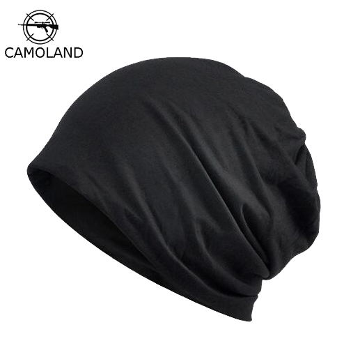 2019 Casual   Beanie   Men Women Spring Summer Lightweight Thin Hat Helmet Liner Cotton Face Mask Sports Cycling Hat Breathable