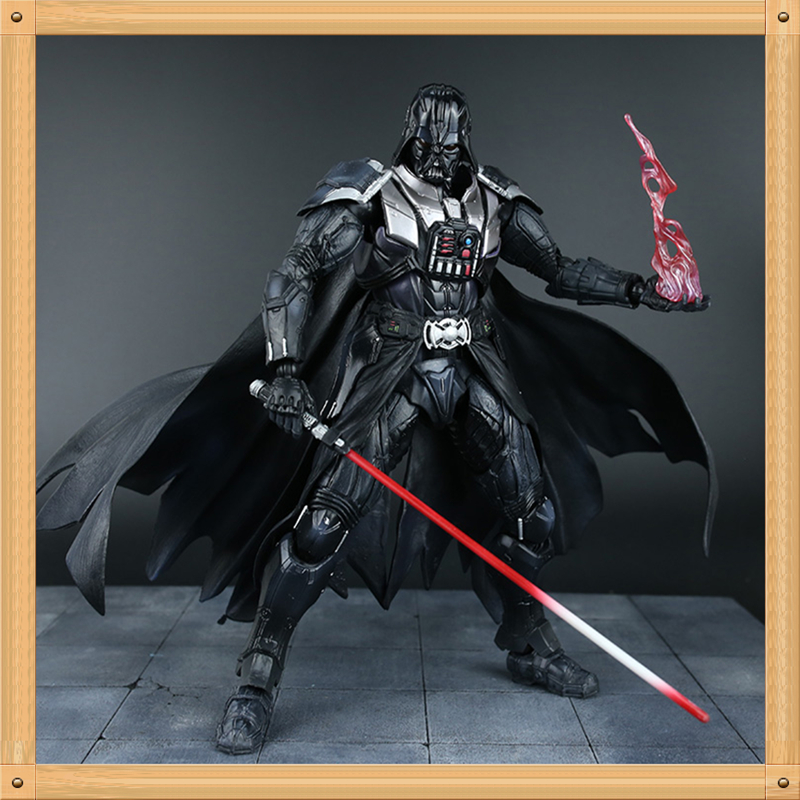 купить 28CM Star Wars Action Figure Playarts Kai Darth Vader Toys Collection Model PVC Star Wars Vader Play arts Kai онлайн