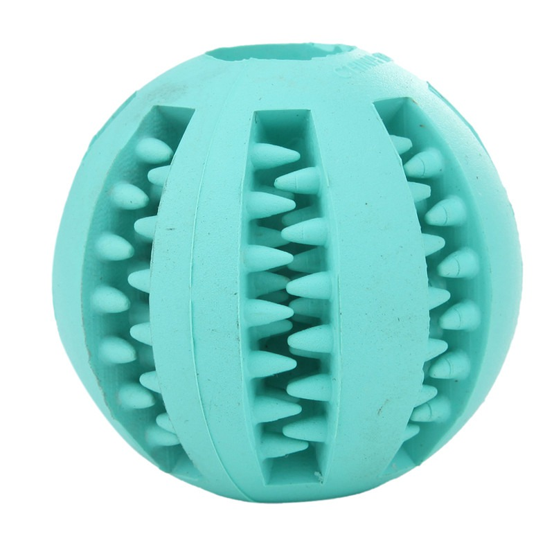 Ball Chew Toys Tooth Cleaning Balls Food Dog Toy Rubber Balls Pet Toys 7cm Supplies Pet Supplies Pets