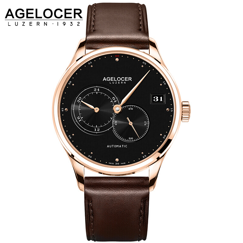 AGELOCER Automatic Mechanical Men Watches Brand Luxury New 2017 Male Clock Wrist Watch Man Watch Montre Homme Relogio Masculino tevise fashion sport automatic mechanical watch men top brand luxury male clock wrist watches for men relogio masculino t629b
