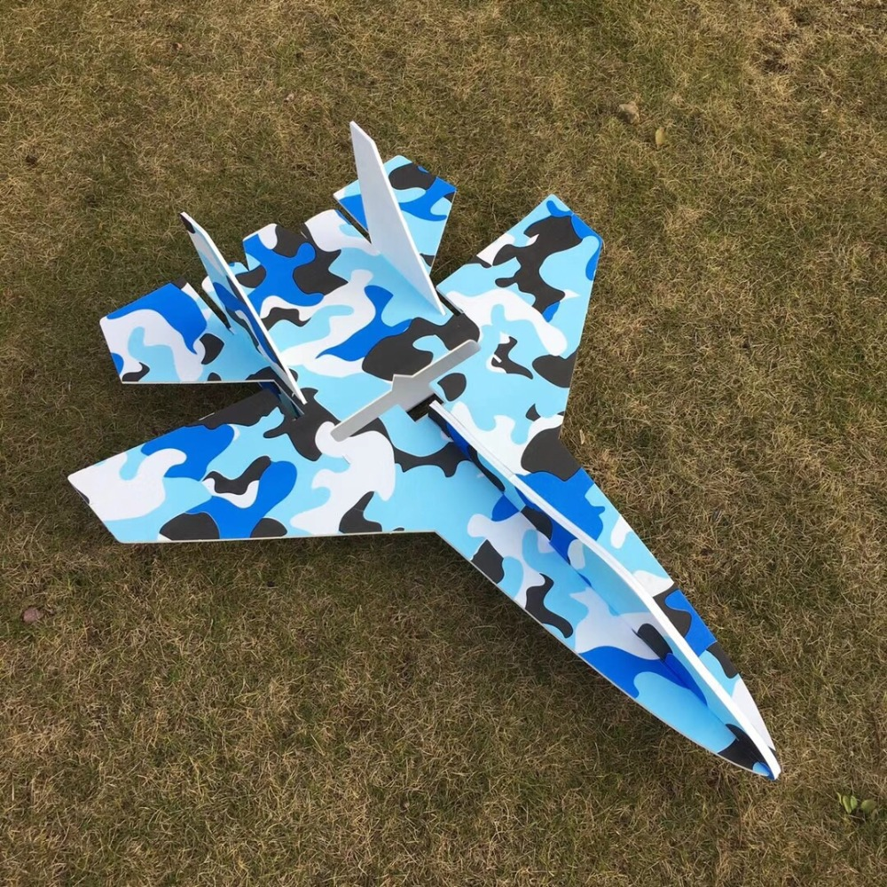 large RC Fighter Su27 Flanker RC Airplane Powerful Bomber 2.4G KT Board Remote Control Aircraft