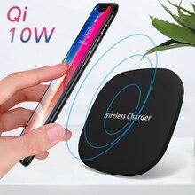 Qi Беспроводное зарядное устройство 10 Вт для samsung Galaxy S8+/S8/Note8/S7/S7edge, для ipone X/iphone 8 и многое другое