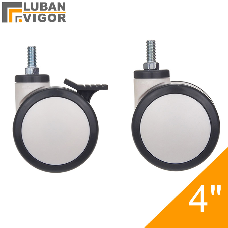 casters Mute 1.6 Inches Universal Wheel Wear Resistant Durable 360/° Free Rotation Strong Load Bearing Replacement Wheel