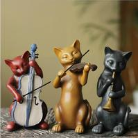 American Home Decorations Crafts Resin Ornaments Creative Wedding Gifts Living Room Wedding Equipment Three Cats Band 05314