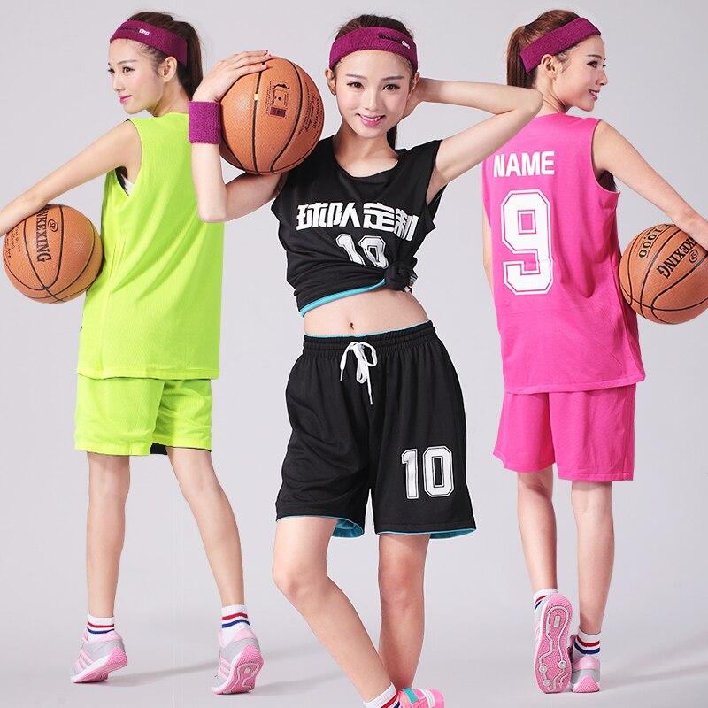 Reversible Jersey & Shorts 2PCS Women Basketball Jersey Set Girl - Sportswear and Accessories - Photo 2