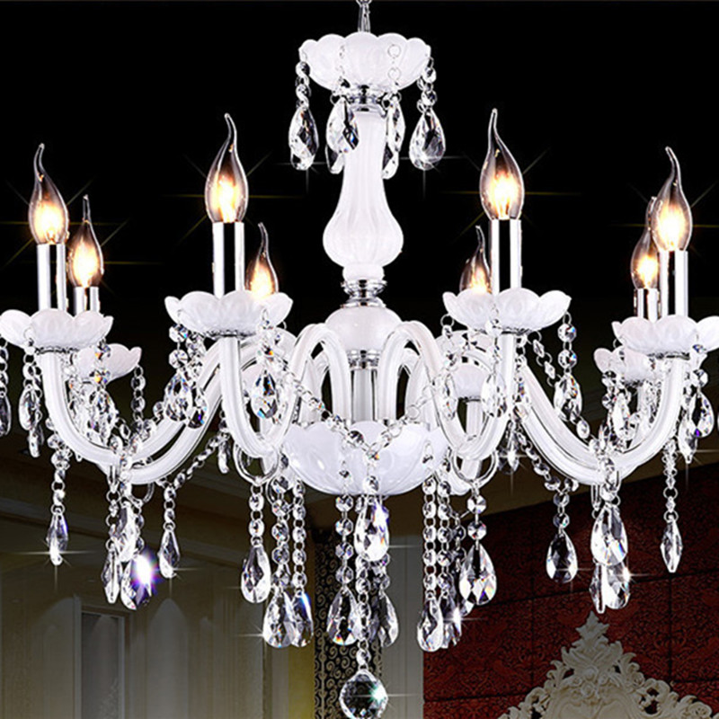 Modern Crystal Chandeliers Lighting LED Pendant Lamp lustre cristal Hanging Lamp luminaria ceiling chandelier fixtures noosion modern led ceiling lamp for bedroom room black and white color with crystal plafon techo iluminacion lustre de plafond