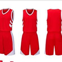 Молодежная дешевая баскетбольная майка для колледжа 2018Men, дышащая индивидуальная баскетбольная форма для мальчиков, набор футболок и шорт, 8 цветов, большой размер