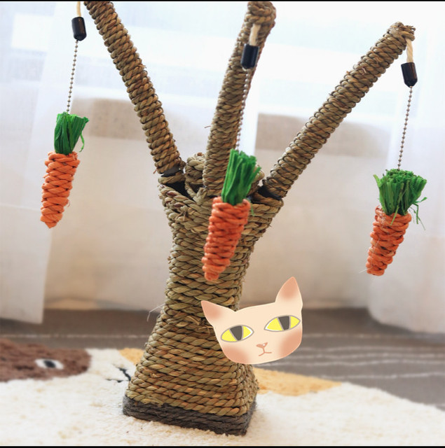 Nuevo estilo ecológico juguete de gato rascarse escalador poste de ...