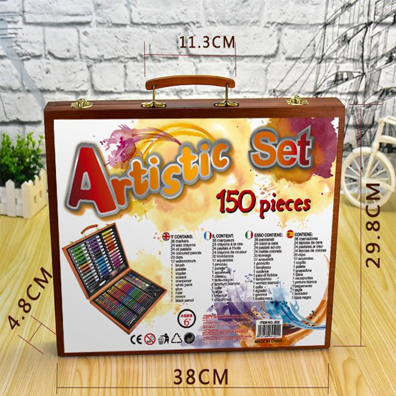 Adeeing 150 Pcs/set Children Kids Study Painting Tool Painting Set Graffiti Coloring Painted Pen Puzzle Toys R20 Complete In Specifications Office & School Supplies