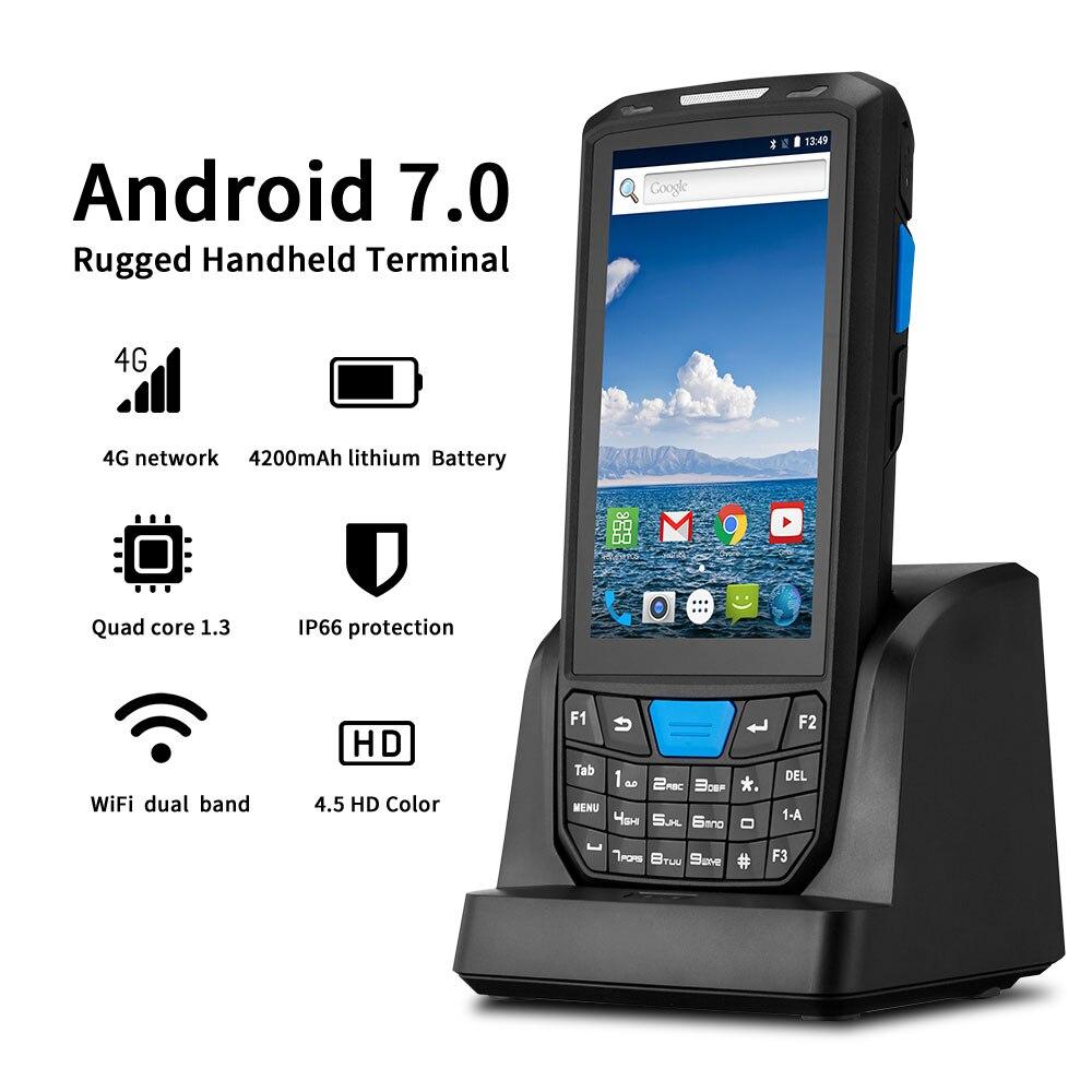 IssyzonePOS PDA Handheld Android 7.0 Robusto Terminal Pos 1D 2D códigos de Barras Scanner de código de Barras WiFi 4G Bluetooth GPS PDA leitor