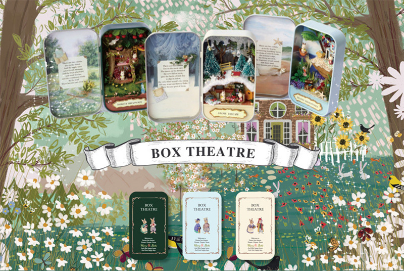 Snow Dream Doll House 3D DIY Miniature Wooden Puzzle Dollhouse Mini Furniture Decoration Toy for Kid Birthday Gift Box Theatre (4)