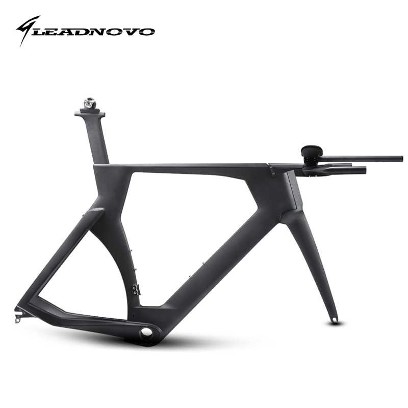 LEADNOVO Time Trail Carbon Bike Frame TT Bike Bicycle Racing Frame Include Carbono Frame Fork Headset Seatpost Clamp Stem TT Bar