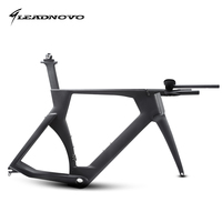 LEADNOVO time trail Carbon bike Frame TT bike bicycle racing frame include carbono frame fork headset seatpost clamp stem TT bar