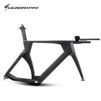 Leadnovo時間トレイルカーボンバイクフレームttバイク自転車レーシングフレーム含めるcarbonoフレームフォークヘッドセットシートポストクランプ幹ttバー