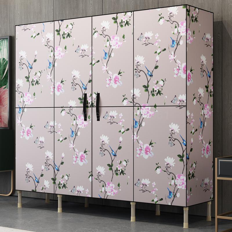 Simple wardrobe fabric storage cabinet storage cabinet wardrobe home simple modern economical cloth cabinet