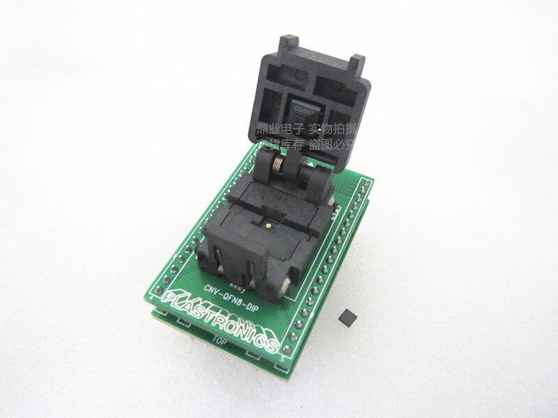 Clapet 100% nouveau et Original QFN8/DIP8 DFN8L 3*3mm 0.65mm IC brûlant adaptateur de siège Test siège test banc d'essai
