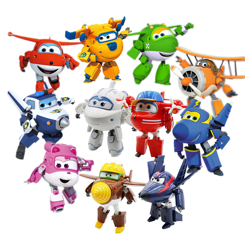 Stor!!! Super Wings Deformation Flygplan Robot Action Figurer Super Wing Transformation leksaker för barn present Brinquedos