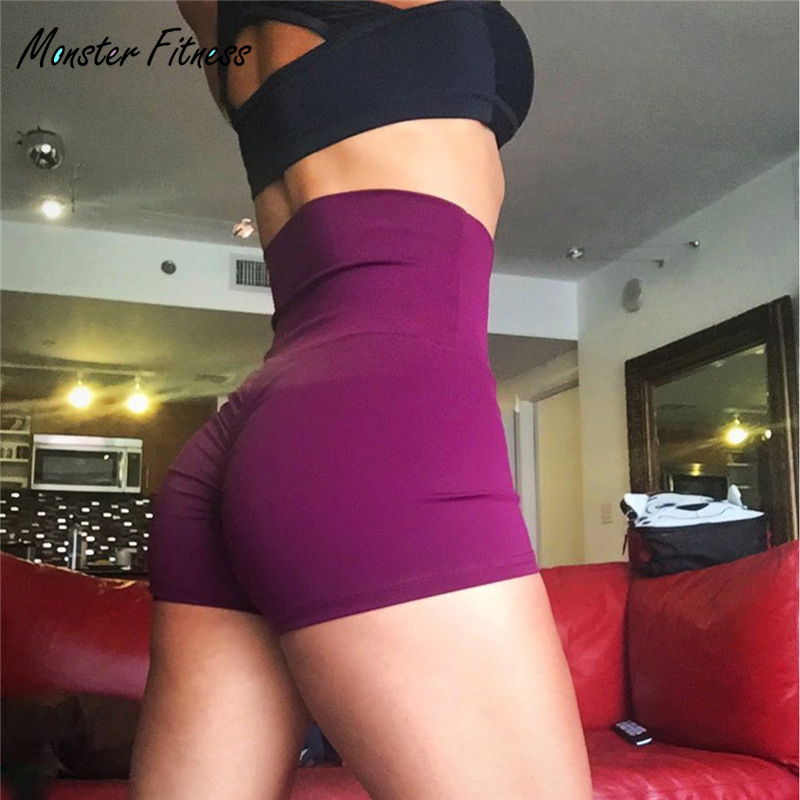 2018 Women Shorts Sexy Push Up High Waist Sport Shorts Women's Yoga Sport Running Gym Workout Legging Fitness Women Shorts