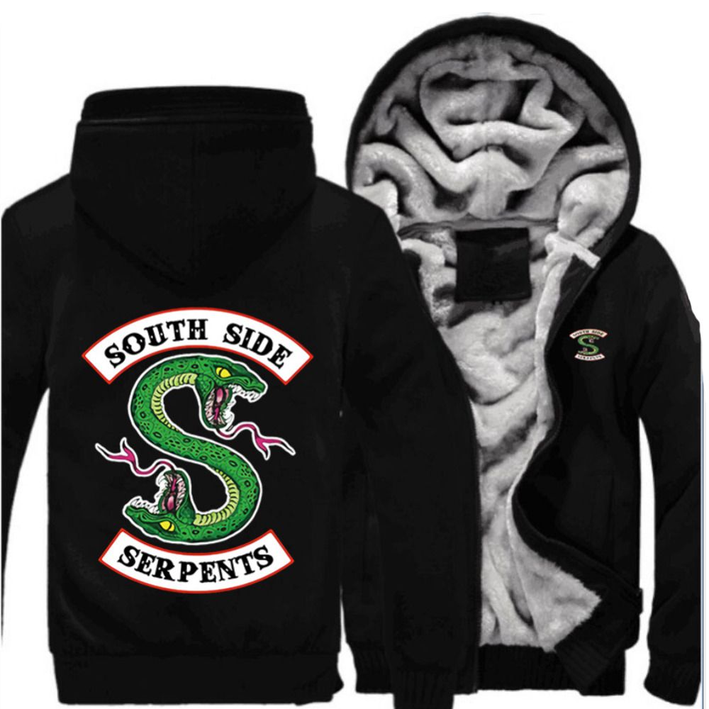 Southside Serpents Hoodie Jones Pullover Hip Hop Zipper Sweatshirt Riverdale Hoodie Deluxe Cotton Cosplay Hoodie For Winter
