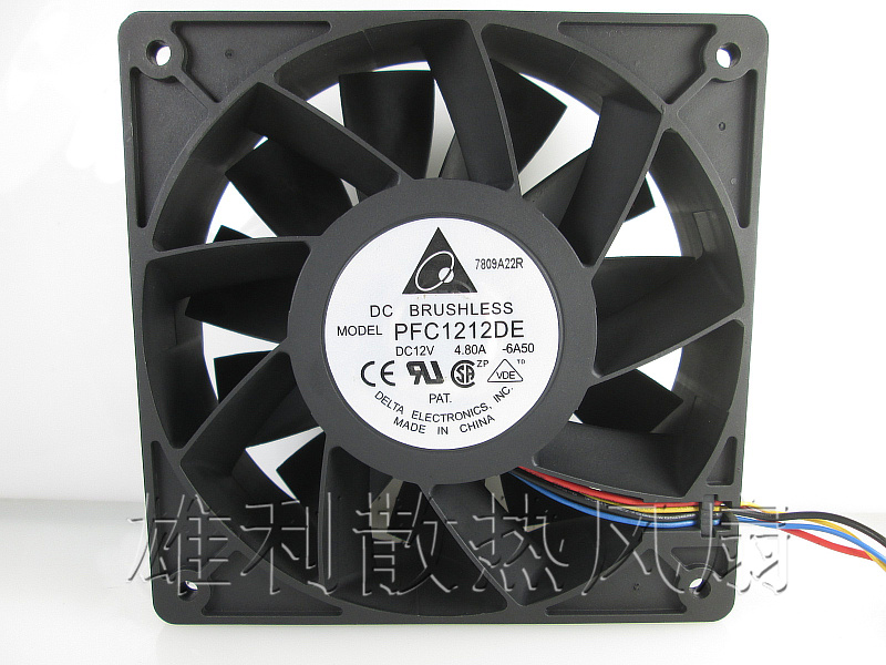 Free Delivery.12V 12038 4.8A PFC1212DE Ultra-large air volume preferred Double ball violence 4-wire fan computer water cooling fan delta pfc1212de 12038 12v 3a 12cm strong breeze big air volume violent fan
