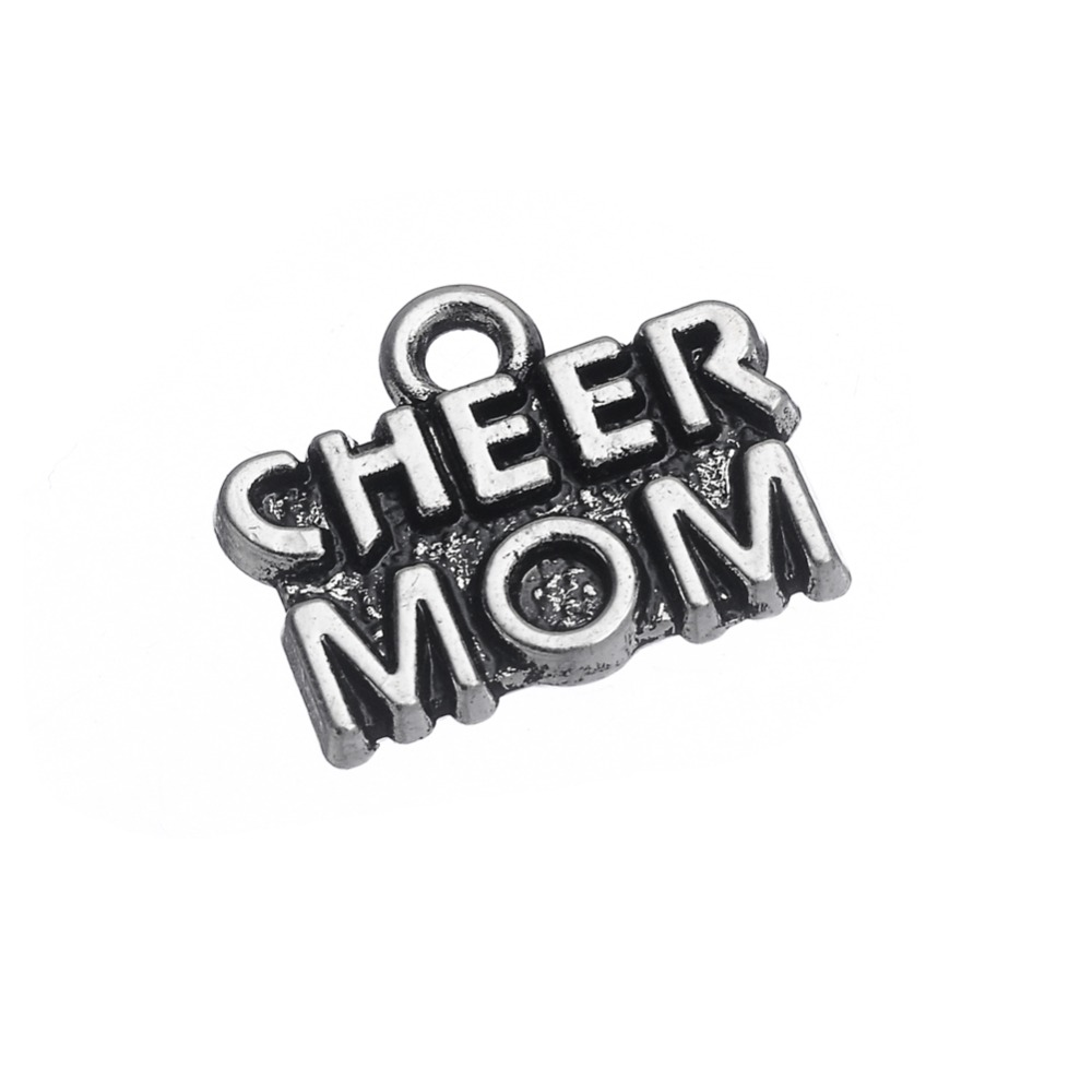RAINXTAR Wholesale Antique Silver Color Cheer Mom Alloy