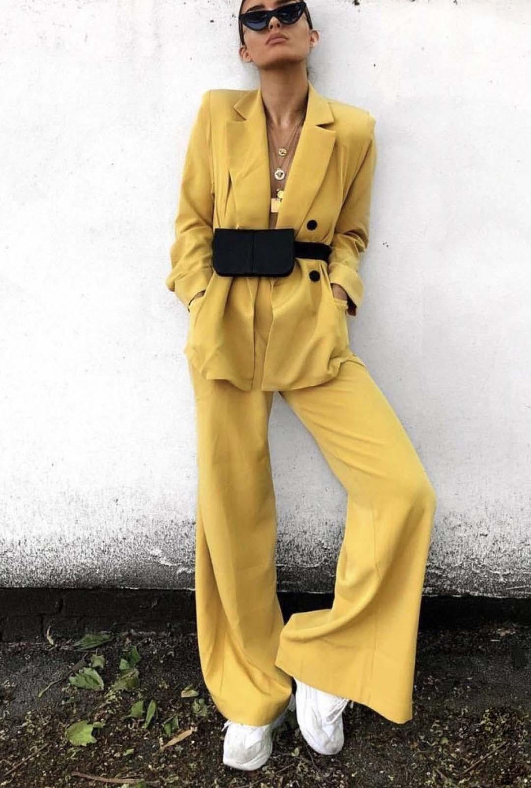 Women Elegant Pant Suits Office Uniform Work Wear Casual 2 Piece Sets Blazer And Pants Ladies Party Evening Trouser Suit