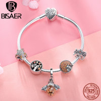 925 Sterling Silver Bracelets Fashion Bee Crystal Tree of Life Femme Bracelets Bangles for Women Authentic Silver Jewelry ECB805