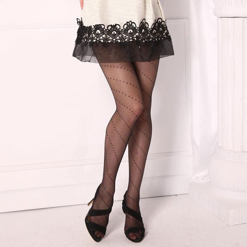 0e01ccb006dadc Sexy Printemps Été Nylon Élastique Étape Pied Collants Sans Couture Bas  Bonneterie Sexy Haut Bas Collants Mode Femmes 15D 1C