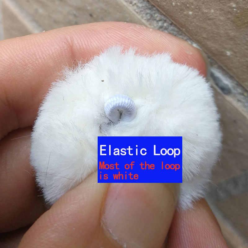 3 cm ~ 4 cm 1 pc fofo bonito mini pompom falso coelho bola chaveiro feminino acessórios anel chave artificial diy brinco acessórios