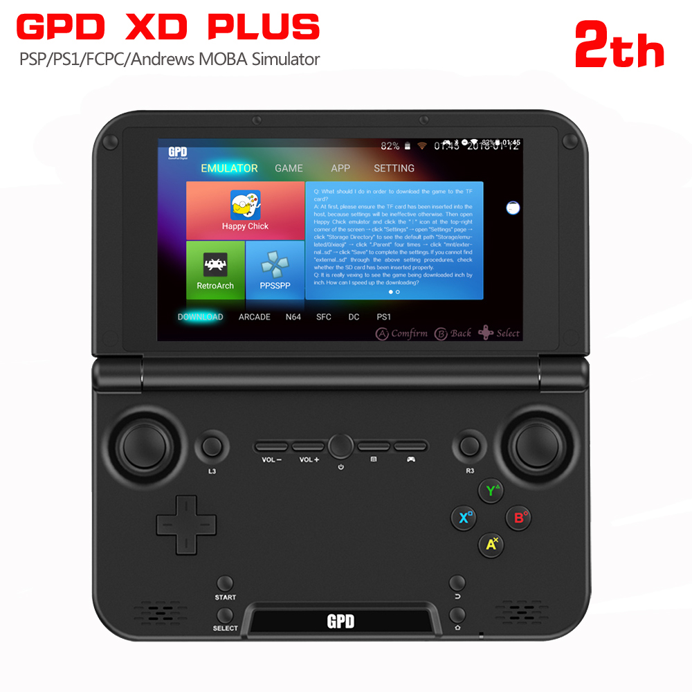 GPD XD PLUS 5 Inch Android7.0 Gamepad Tablet PC4GB/32GB MTK8176 SIX Core 2.1GHz Handled Game Console H-IPS 1280*768 Game Player
