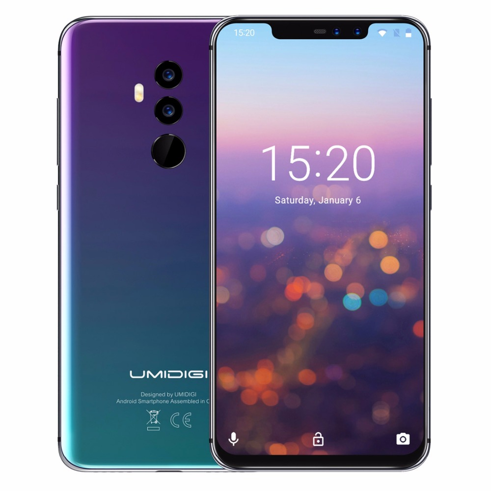 """UMIDIGI Z2 Pro Android 8.1 Helio P60 Octa core Smartphone 6.2"""" 6GB+128GB Wireless Charge Global 4G Cellphone Face ID 4 Cams NFC"""