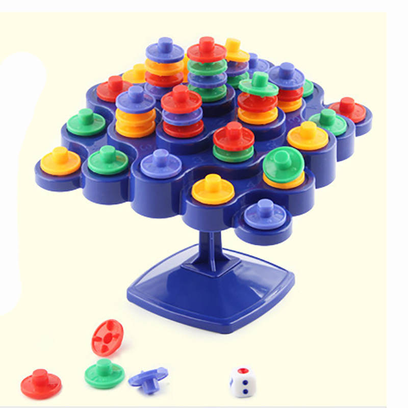 Puzzle Exercise Brain  Balance Topple Puzzle Board Game Funny Colorful Travel Game