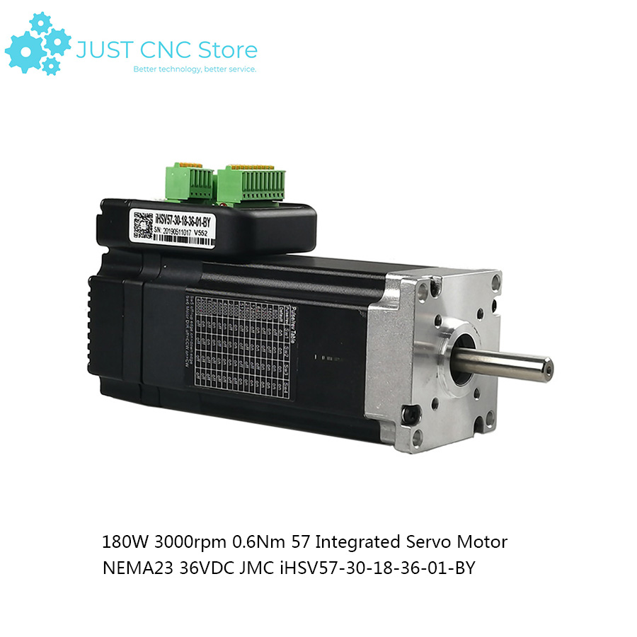 3000rpm 0.6Nm 57 Integrated Servo Motor NEMA23 36VDC JMC iHSV57-30-18-36-01-BY