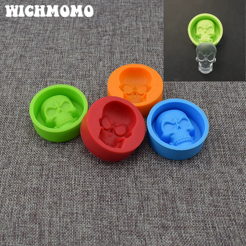2019 New Fashion 1PCS Skull Craft DIY Transparent UV Resin Liquid Silicone Combination Molds For DIY Making Finding Accessories