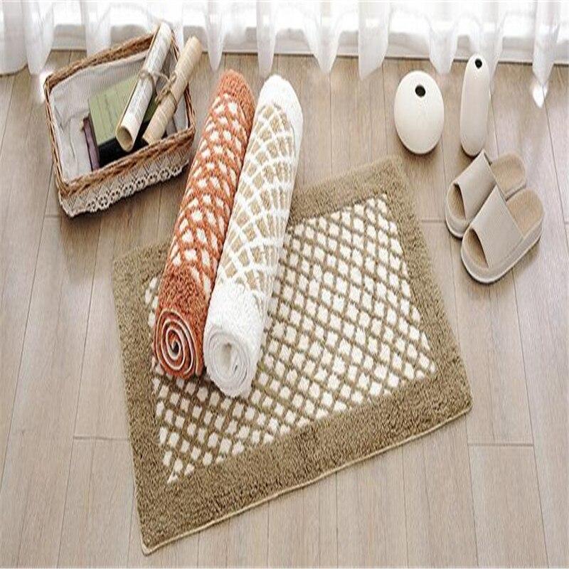Livraison gratuite rectangle doux chenille plaid chaud tapis doux tapis tapis de bain couloir antidérapant