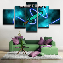 Modern Decorative Artwork Minecraft Game 5 Piece HD Print Painting Canvas Wall Art Picture Home Living Room