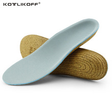 ФОТО kotlikoff cork sole orthopedic insoles for flat foot higt arch supports shoe insoles inserts orthotic insole pads feet care