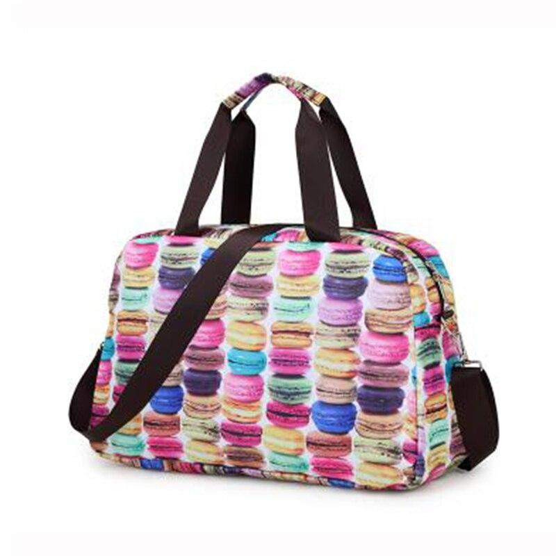 Oxford Folding Large Capacity Printing Duffle Bag Waterproof Weekender Portable Travel Bag Women 30%OFF T430
