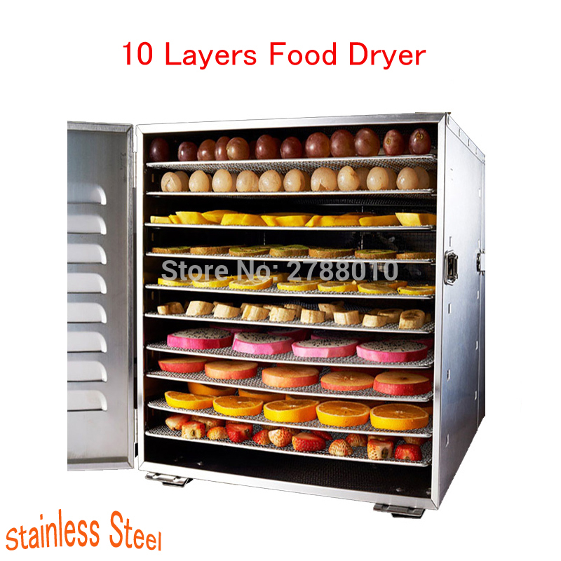 Household 10 Layers Food Dryer Dehydrators Stainless Steel Nuts Dry Machine Fruits and Vegetables Dehydration Drying Machine