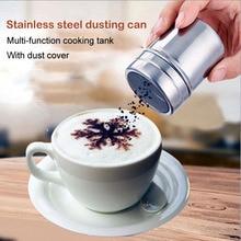 Stainless Chocolate Shaker Cocoa Flour Icing Sugar Powder Coffee sprinkler fancy Fine screen barrel cinnamon powder sieve