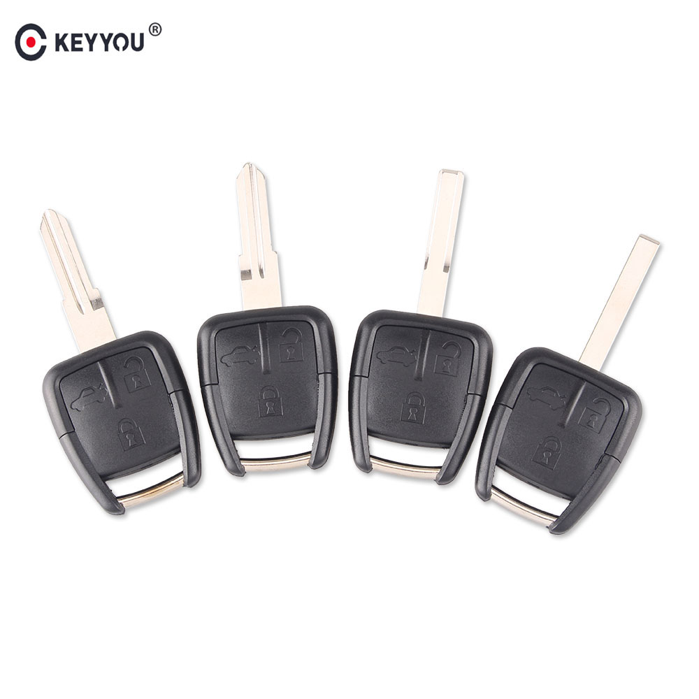 KEYYOU 3 bouton clé de voiture à distance boîtier coque housse Fob pour Chevrolet Opel avec YM-28/HU46/HU43/SIP lame ou HU100 clé lame