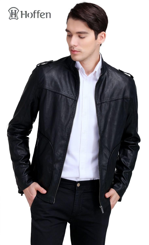 Vestes Manteaux Slim Pu Solide Design Hommes Col En De Rw16 Montant Mode kum300 Cuir Fit Hoffen Moto Noir Biker Casual Ca0Sw