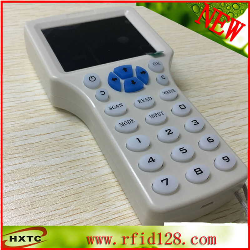 English 10 frequency RFID Copier ID IC Reader Writer copy M1 S50 13.56MHZ encrypted Duplicator Programmer NFC UID Tag Key Card