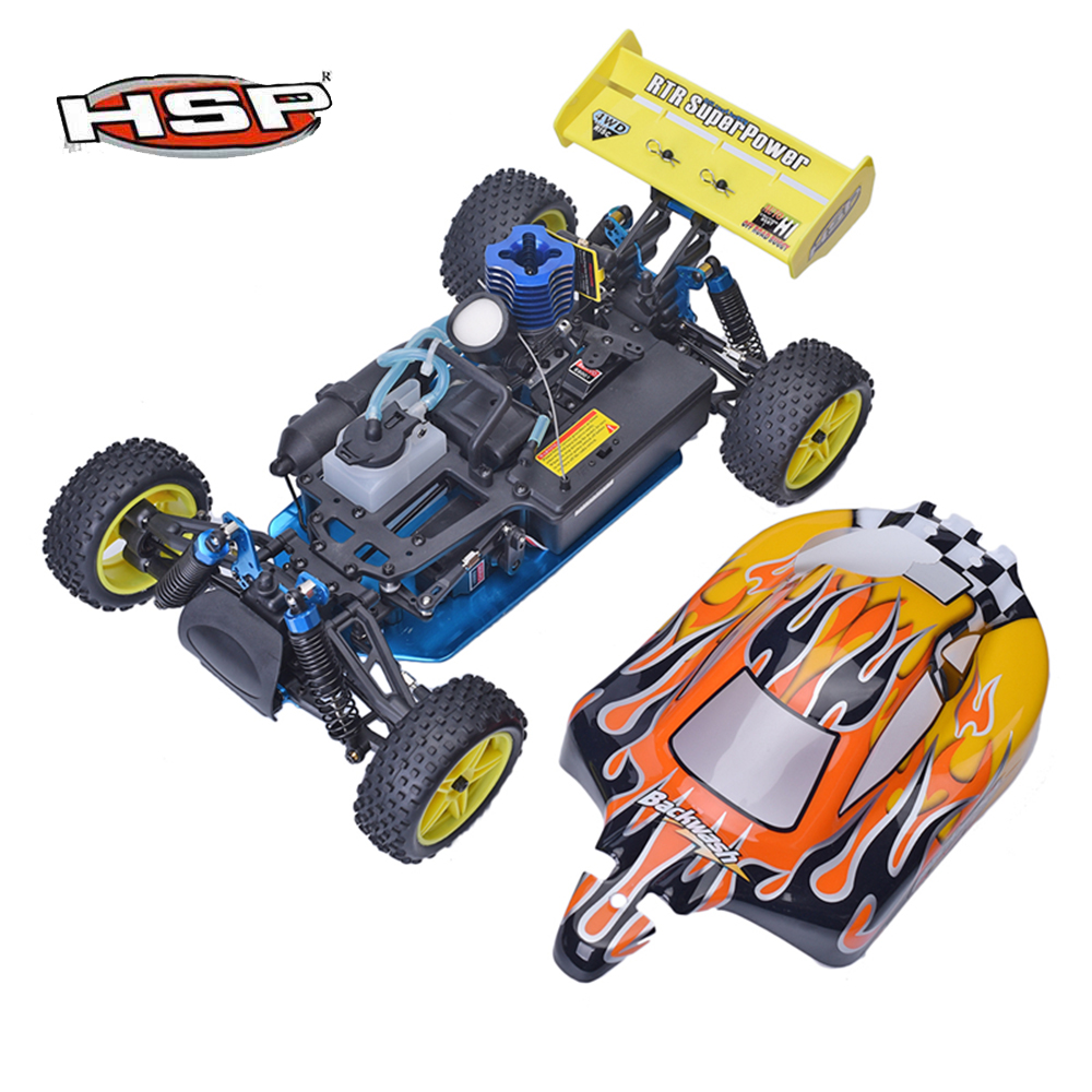 Hsp 94166 1 10 nitro gas powered rc racing car backwash two speed off road