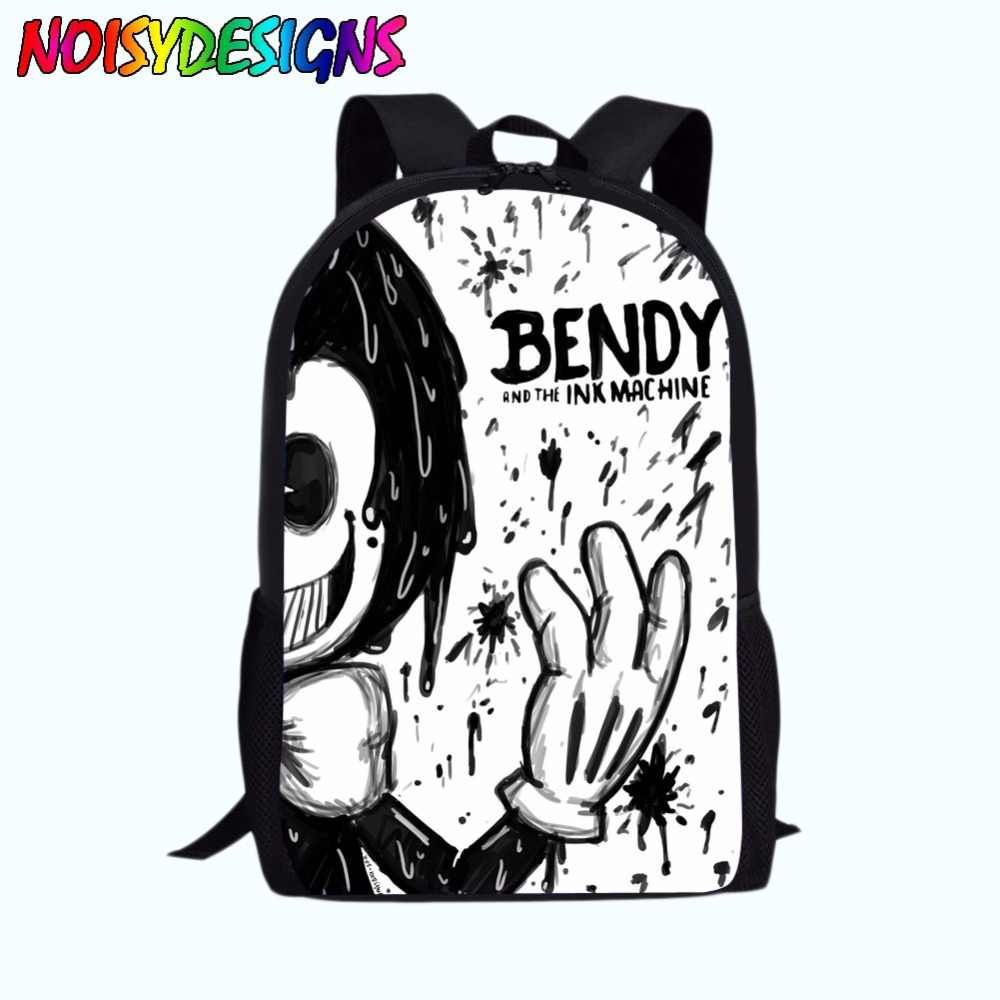 4778314bad ... School Bag for Kids Boy Girls Backpack Bendy and The Ink Machine Female  Schoolbag School Supplies ...