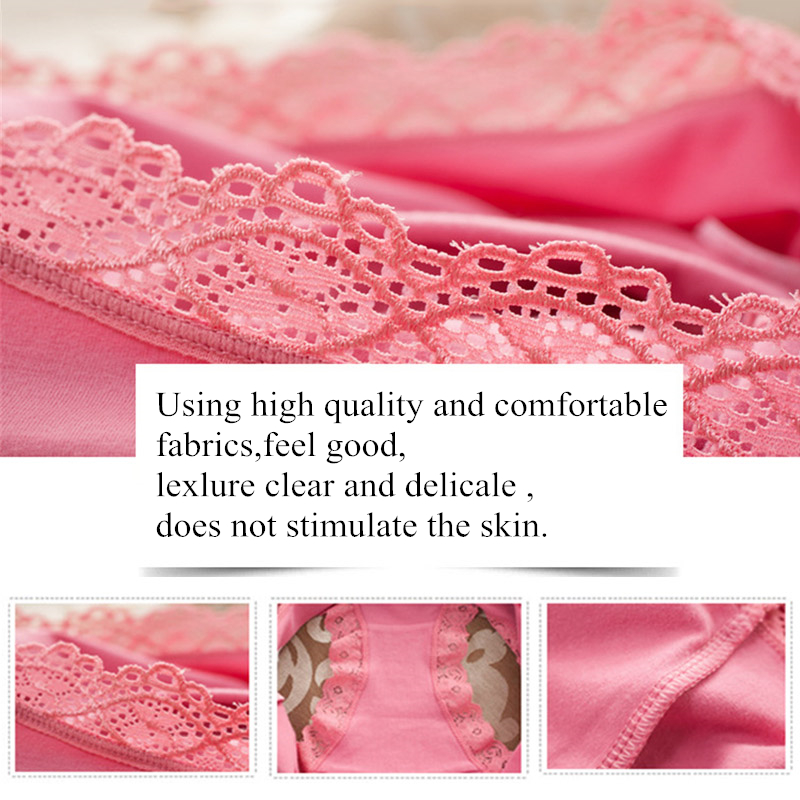 Women Cotton Panties Lace Lady Underwear Every Day Briefs Big Size Sexy Lace Female Cotton Underwear Comfortable Panty For Lady