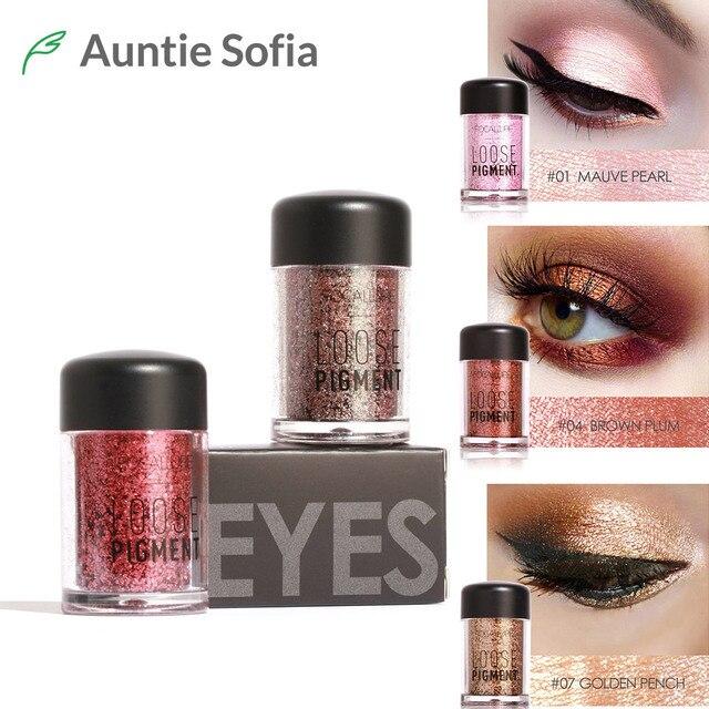 Focallure Merk 12 Kleuren Glitter Eye Glossy Poeder Diamond Shimmer Shinning Eye Make Pigment Lip Highlighter Poeder