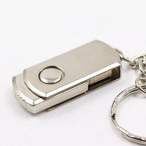 Image 5 - De Metal de moda pendrive USB flash drive 4GB 4GB 8GB 16GB 32GB 64GB pen drive de plata pistola u disco USB 2,0 tarjeta de memoria Flash de negocios