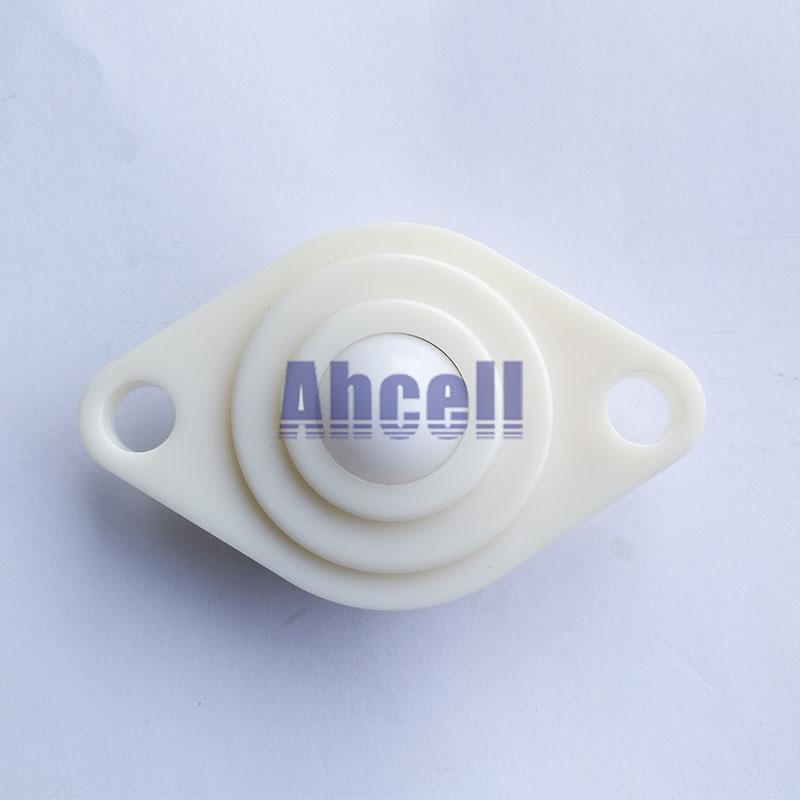 NL19A 19mm POM Nylon Ball Full plastic bearing roller caster wheel 25kg capacity NL-19A POM ABS ball atransfer unit